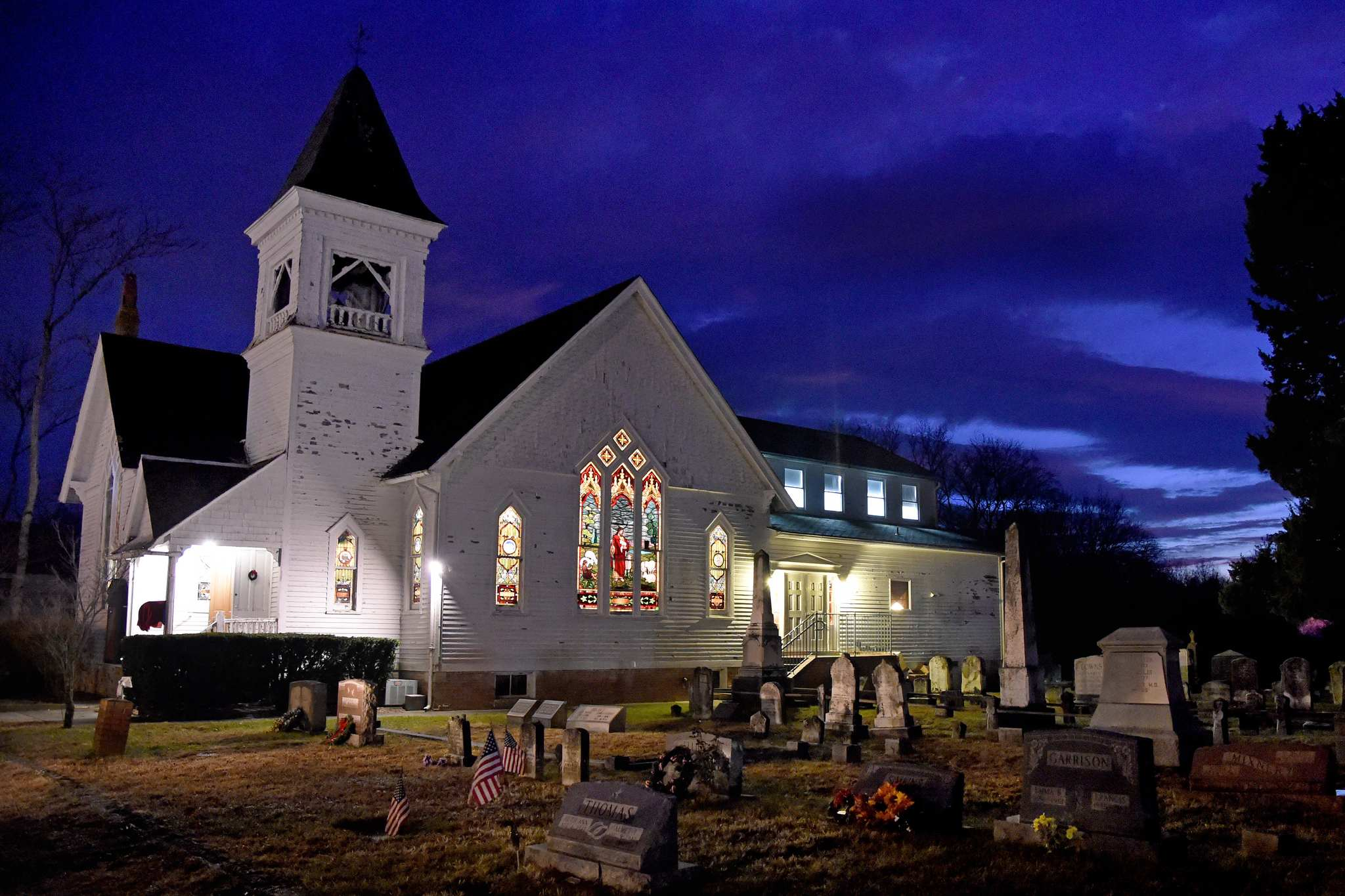 Indie film actor Will Keenan purchased the church formerly known as Goshen United Methodist Church. He is transforming it into a residence, spiritual oasis, and performance space named for his recently deceased mother.