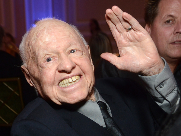Mickey Rooney attends the the Actors Fund´s 17th annual Tony Awards viewing party held at Taglyan Cultural Complex on June 9, 2013 in Hollywood, California. (Photo by Araya Diaz/Getty Images)