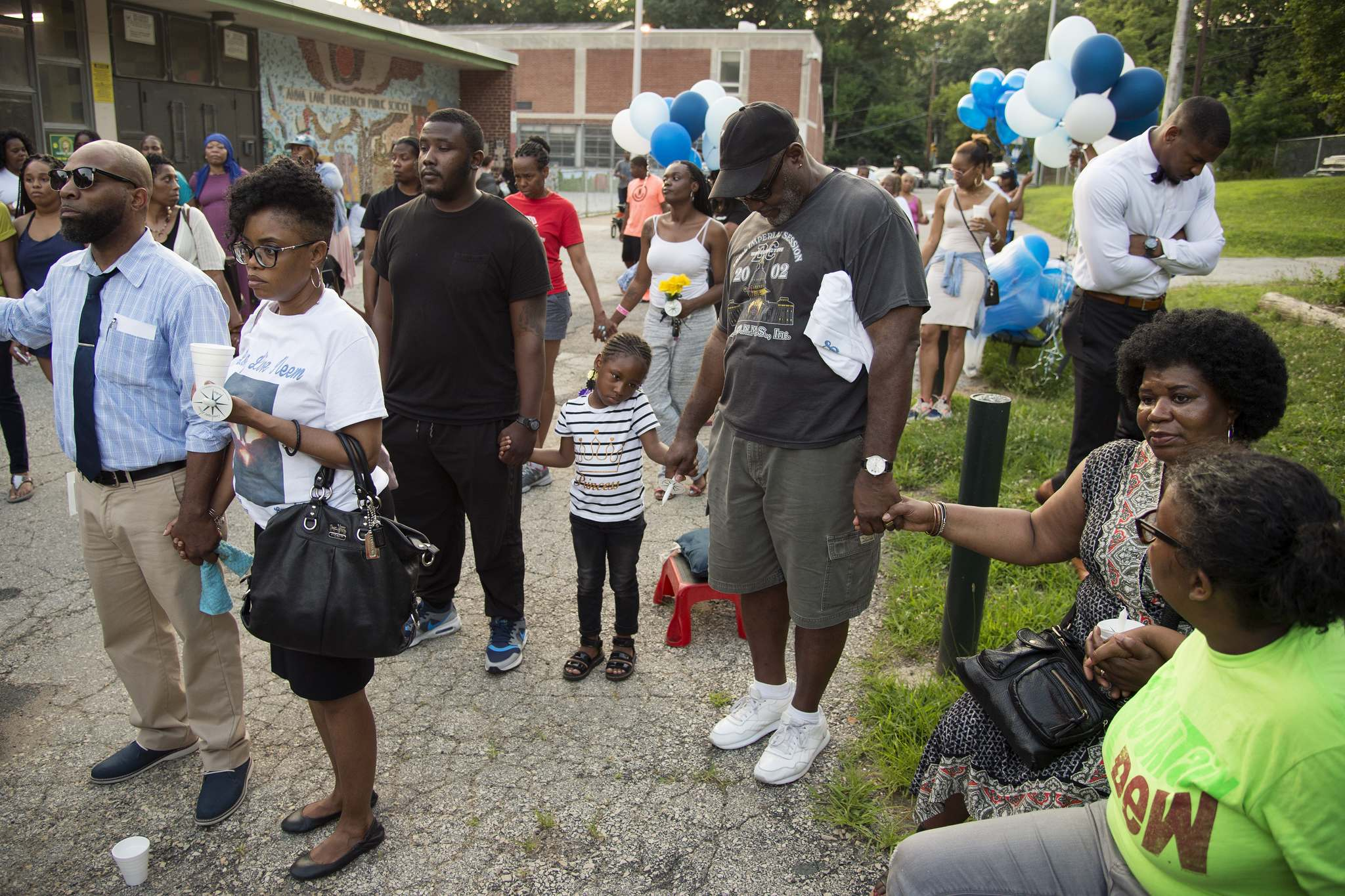 Family and friends gather for a vigil for Niam Johnson-Tate. His relatives take comfort in the final gifts he left behind -- his heart and lung. Johnson was an organ donor,