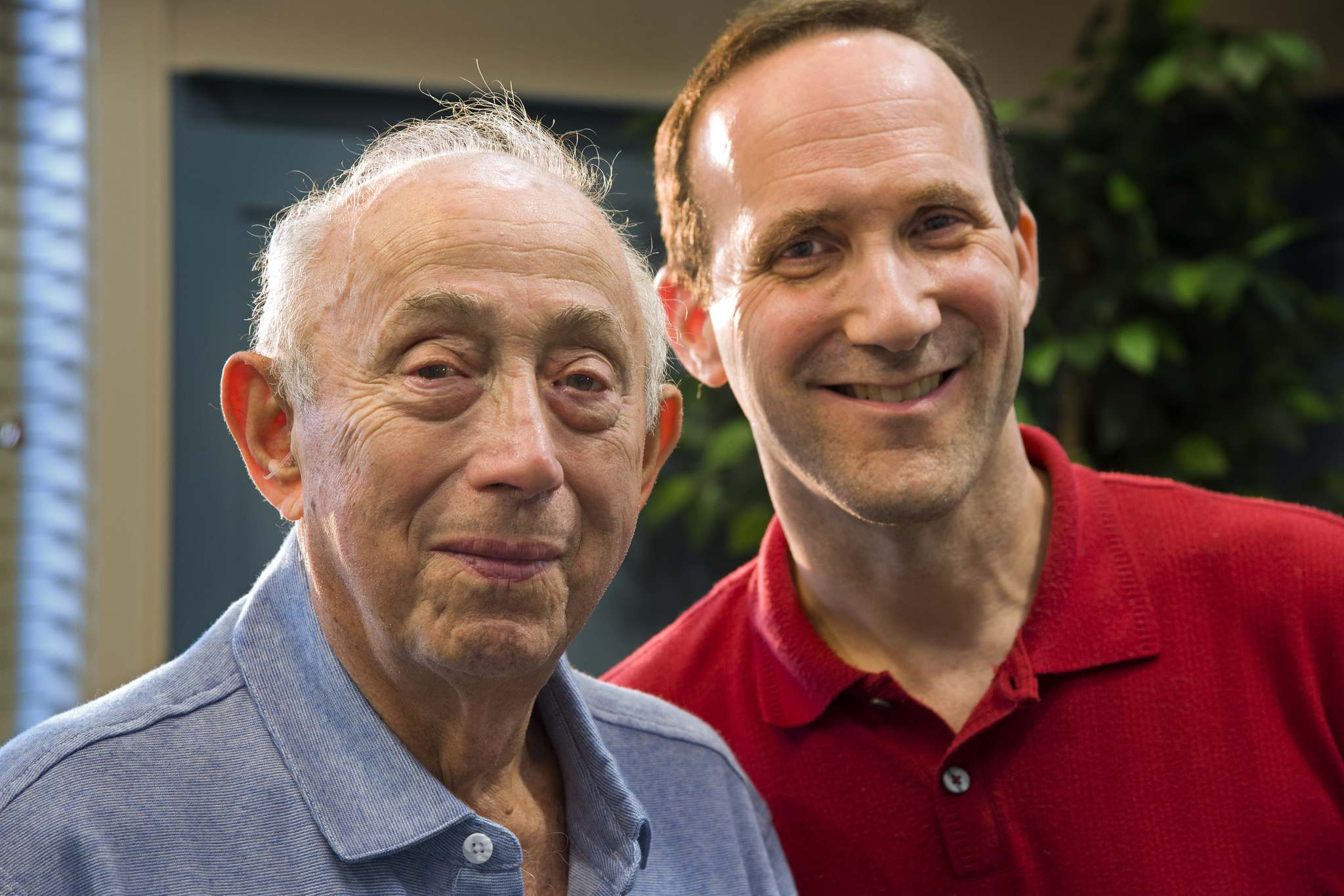 Fred Behrend (left), 90, of Voorhees, poses with his co-author Larry Hanover.