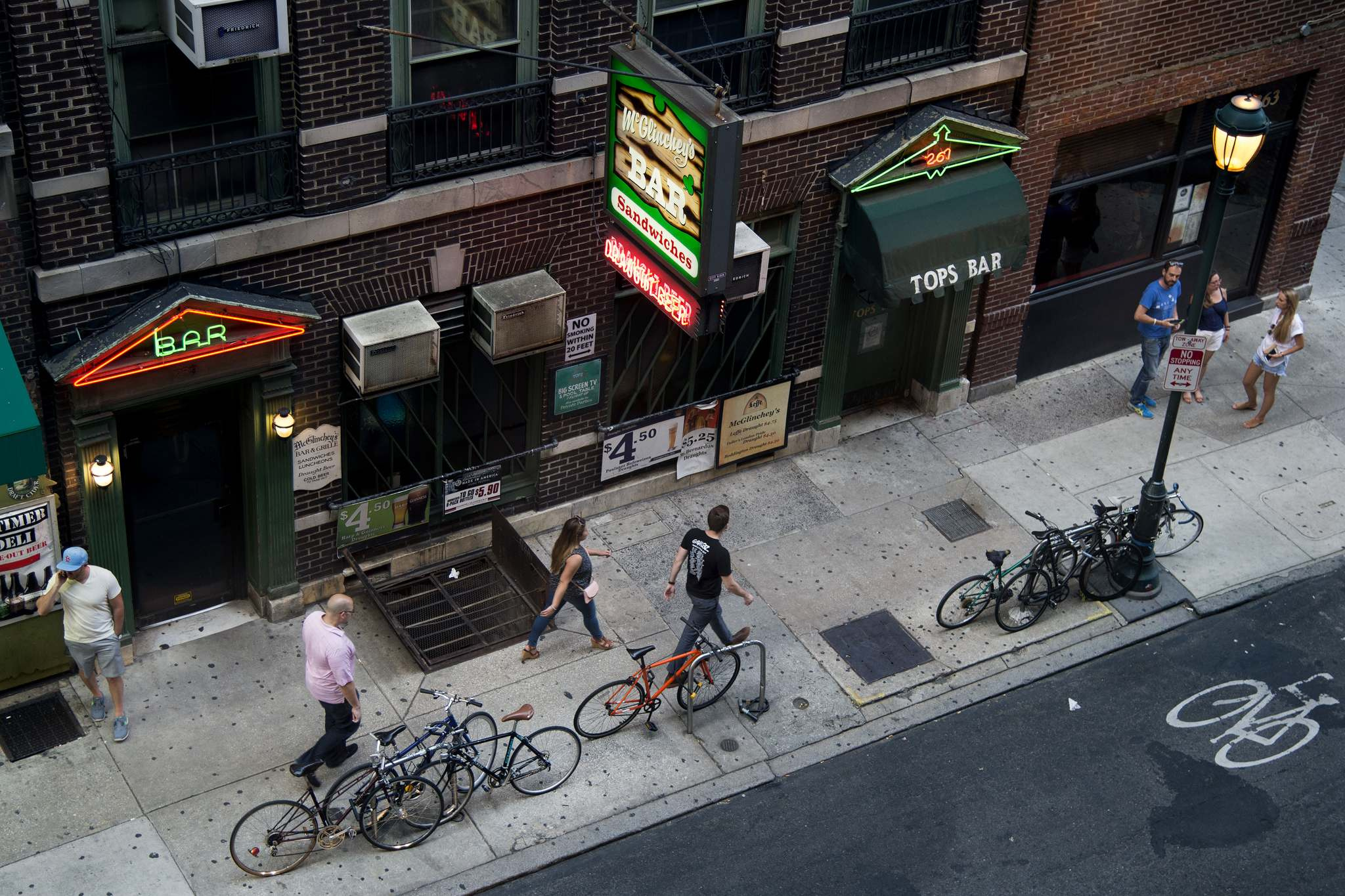 McGlinchey´s and Top´s on 15th Street.