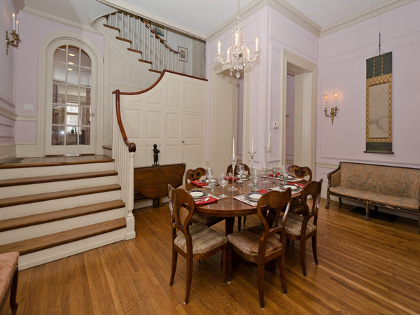 This Rittenhouse row home, located at 1810 Delancey Place, is on the market for $2,695,000.