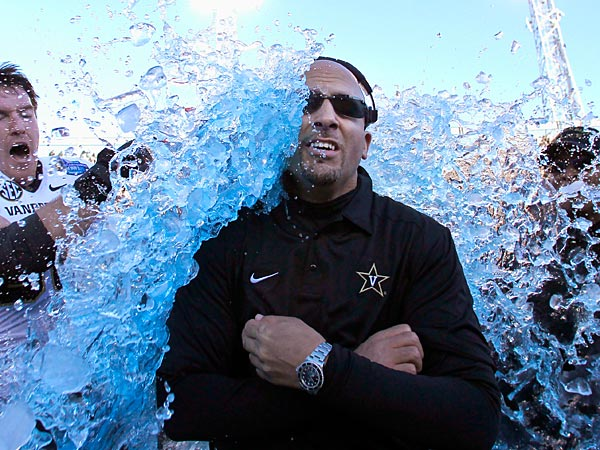 Vanderbilt coach James Franklin (AP Photo/Butch Dill).