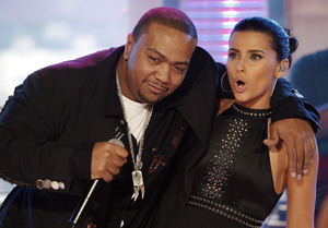 "Singers Timbaland, Nelly Furtado on Monday's ""Total Request Live"" at MTV's Times Square studios: Not quite as ""Live"" these days."