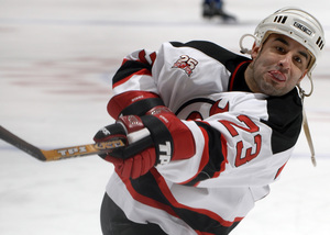 Scott Gomez , who played for the New Jersey Devils and won two Stanley Cups, is a free agent whom the Flyers may be interested in signing.