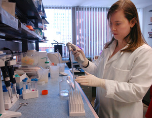 Multiple sclerosis researcher Denise Fitzgerald , working at Jefferson, has a personal reason to be passionate about the pursuit: Seven years ago, a mysterious spinal-cord inflammation temporarily left her a paraplegic.