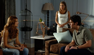 """Lake Bell (left), Eva Longoria Parker, Paul Rudd. Bell and Rudd strike comic sparks, but Longoria Parker acts like a """"Desperate Housewives"""" waxwork."""