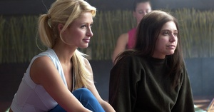 Paris Hilton as supposedly sweet Cristabel comes across like a pet owner who wants points for adopting the ugliest mutt (Chris- tine Lakin as poor friend June).