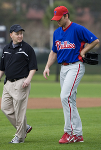 The Phillies placed closer Brad Lidge on the DL, retroactive to March 21. He could be activated April 5 in Cincinnati.