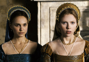 """In """"The Other Boleyn Girl,"""" Natalie Portman (left) is Anne, who married Henry VIII and was beheaded for not producing a male heir. Scarlett Johansson is sister Mary, who became his mistress."""
