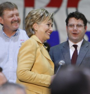 Clinton and actor Sean Astin (yes of Rudy and Lord of the Rings). AP