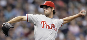 Cole Hamels wanted to start the eighth, but he couldn't get the job done in last night's 5-4 loss to the Brewers.