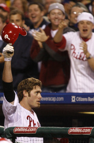 One of Jayson Werth's two curtain calls last night.