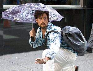 Adam Sandler is the title character, an Israeli commando who fakes his own death to pursue his dream of becoming a hairstylist in New York.