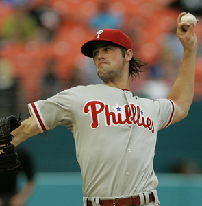 Another Cole Hamels gem is wasted last night at Dolphin Stadium. The Marlins are looking for a sweep tonight.