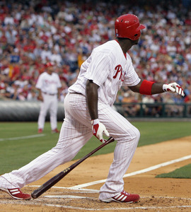 Ryan Howard is tied for the NL lead in RBIs, and tied for second in the league in home runs. But go ahead, concentrate on his strikeouts.