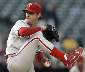 Jamie Moyer did his job last night in Oakland. The offense did not and the Phillies lost, 5-2.