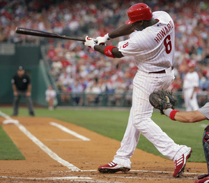 Ryan Howard has 80 RBIs, surpassing Greg Luzinski´s franchise record for RBIs before the all-star break.