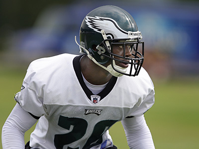 Lito Sheppard will be relegated to nickel back status for tomorrow´s preseason game against the Carolina Panthers at Lincoln Financial Field. (David Maialetti / Daily News)