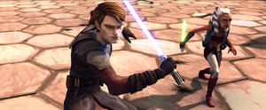 """Anakin Skywalker gets a protege, Ahsoka Tano, for his mission in """"Star Wars: The Clone Wars,"""" which is based on a video game."""
