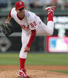 Jamie Moyer allowed two runs - one earned - and five hits in 6 2/3 innings against the Nationals, and lost again because of poor run support.