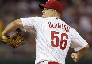 Joe Blanton pitched well in last night´s victory over the Dodgers. But Pedro Feliz´s heroics won it.