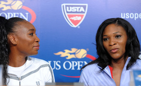 Venus (left) and Serena Williams