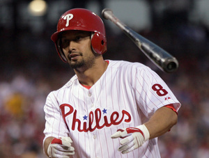 Shane Victorino's routinely calm responses to the Phillies' dwindling postseason prospects are downright infuriating. The fans are the only ones who appear bothered by this wasted season.