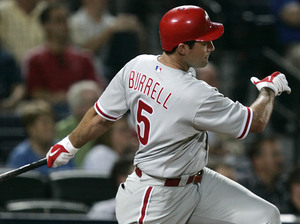 Pat Burrell went yard last night, rewarding Charlie Manuel´s faith in him.