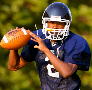 West Catholic's Curtis Drake is talented, but his size may force him to move to receiver or defensive back in college.