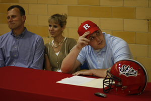 Paul Carrezola announcing his commitment to Rutgers in May. With him are his parents, Lee and Claire. The Neshaminy star is known as a fierce competitor.
