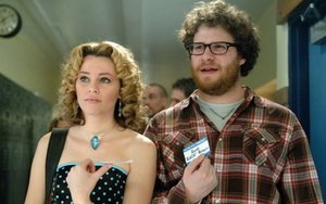 """Seth Rogen and Elizabeth Banks star in """"Zack and Miri Make a Porno"""" about platonic friends who discover they feel something deeper."""