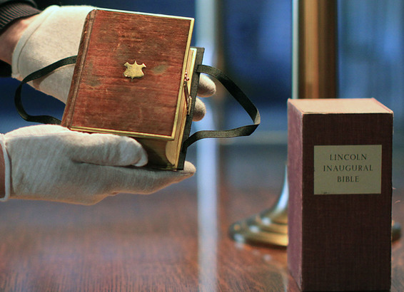 The Lincoln Bible that will be used at Barack Obama's swearing-in is held by a Library of Congress curator.