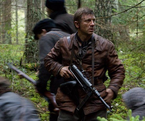 "Daniel Craig stars as Tuvia Bielski in ""Defiance,"" a true story of members of the Jewish Resistance fighting Nazis during World War II."