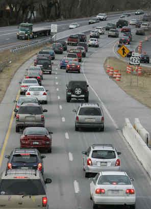 Heavy traffic on 422