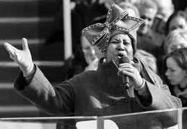 Aretha Franklin during the presidential inauguration.
