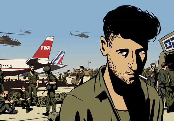 """In the animated feature """"Waltz With Bashir,"""" filmmaker Ari Folman decodes a recurring dream of his role as an Israeli soldier in Lebanon."""