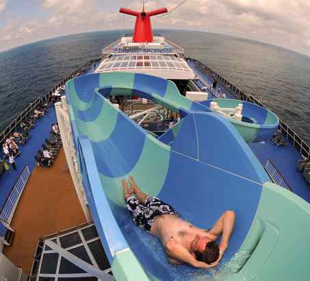 "The watery fun continues on Carnival Splendor, one of last year's star ships, with ""sky-dome"" pool."