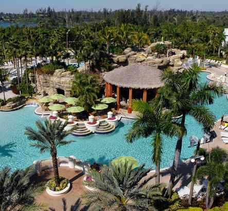 Seminole Hard Rock Hotel & Casino, in Hollywood, Fla., boasts a 5-acre swimming area and outdoor entertainment-and-shopping complex.