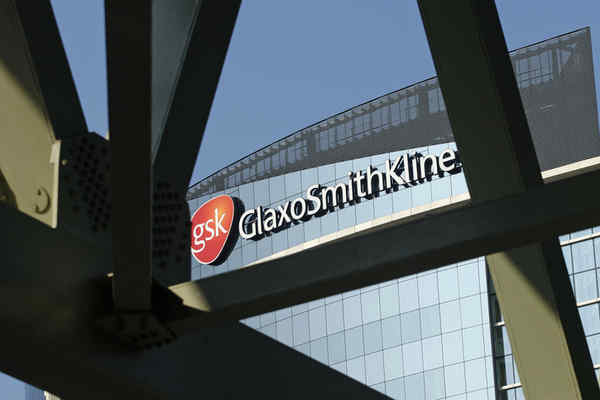 The London offices of GlaxoSmithKline. Glaxo will buy the dermatology business Stiefel Laboratories, based in Florida.