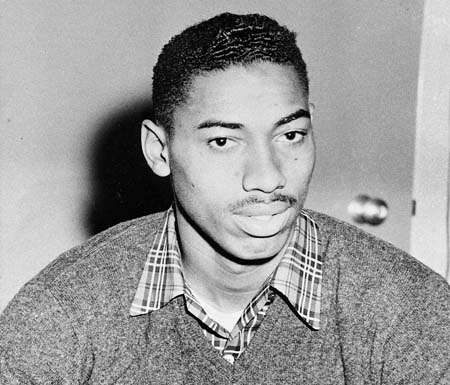 Basketball player Wilt Chamberlain is seen as an Overbrook High School student in Philadelphia, Pa., 1955.  (AP Photo)