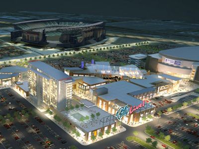 A rendering of the proposed Philly Live Project. (Image via Cordish.com)