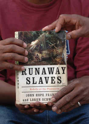 "Workers at the Northwest Transfer Station say they read ""Runaway Slaves,"" found in trash, for inspiration."