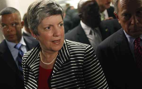 Homeland Security Secretary Janet Napolitano says stepped-up efforts to apprehend illegal immigrants have been successful. (SETH WENIG / Associated Press)