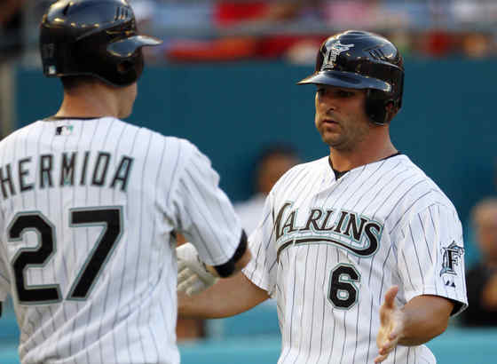 Dan Uggla is still a Marlin, but Jeremy Hermida is not.