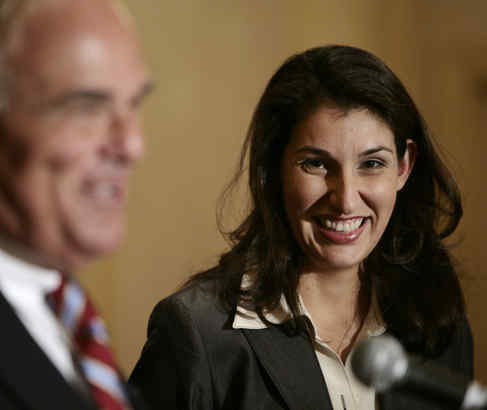 Heidi Ramirez smiled broadly when Gov. Rendell announced her appointment to the School Reform Commission. She resigned the seat last week. (ERIC MENCHER / Staff Photographer)