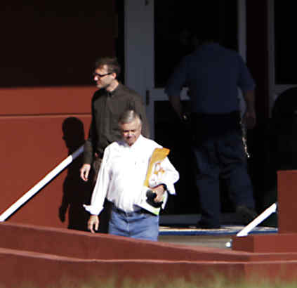 Fumo, seen reporting to prison in August. Are those lesson plans he´s carrying?