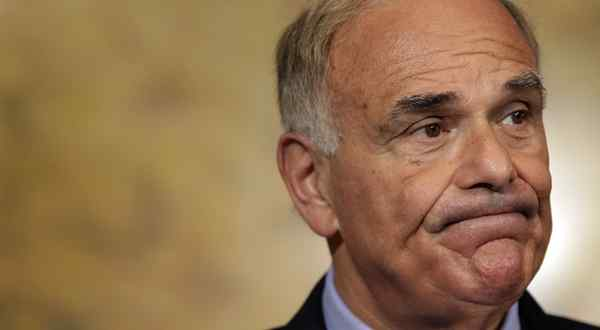 Gov. Rendell grimaced as he took questions about the stalled state-budget process last week.