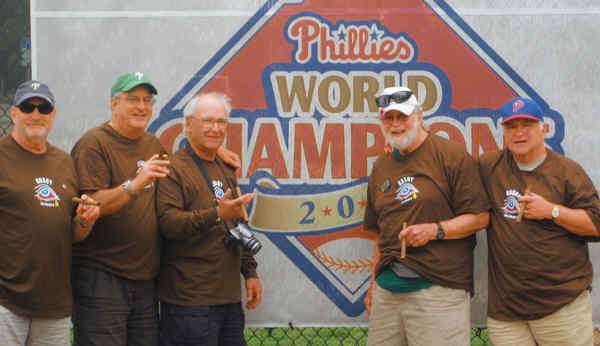 The Kosoy cousins, native Philadelphians who have been getting together at Phillies spring training in Clearwater, Fla., for 20 years: (from left) Howard Casway, 65; Jerrold Casway, 67; Robert Cassway, 75; Jack Weisman, 81; and Joel Cassway, 67.