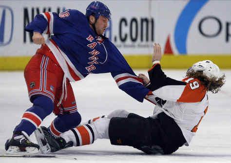 Avery Hits Hartnell, But Flyers Pummel Rangers 6-0